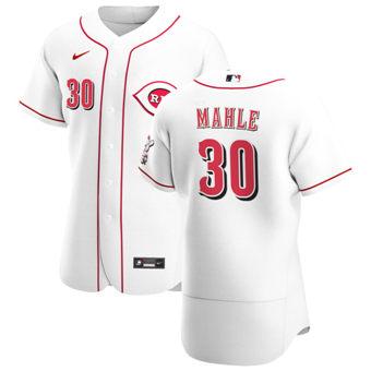 Men's Cincinnati Reds #30 Tyler Mahle White Home 2020 Authentic Player Baseball Jersey