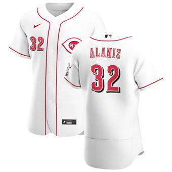 Men's Cincinnati Reds #32 R.J. Alaniz White Home 2020 Authentic Player Baseball Jersey