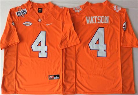 Men's Clemson Tigers Orange #4 WATSON Stitched College Football Jersey