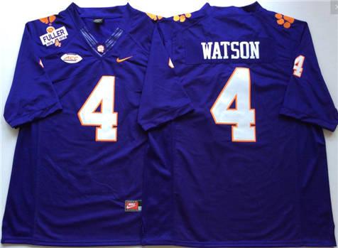 Men's Clemson Tigers Purple #4 WATSON Stitched College Football Jersey
