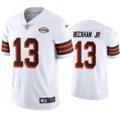 Men's Cleveland Browns #13 Odell Beckham Jr White 1946 Collection Vapor Limited Jersey