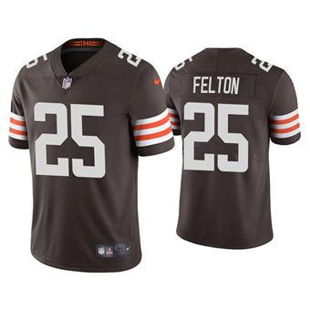 Men's Cleveland Browns #25 Demetric Felton 2021 Brown Vapor Untouchable Limited Stitched Jersey