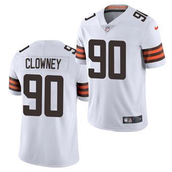 Men's Cleveland Browns #90 Jadeveon Clowney White Vapor Untouchable Limited Stitched Football Jersey