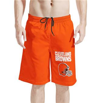 Men's Cleveland Browns Orange Football Shorts