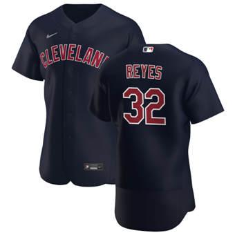 Men's Cleveland Indians #32 Franmil Reyes Navy Alternate 2020 Authentic Player Baseball Jersey