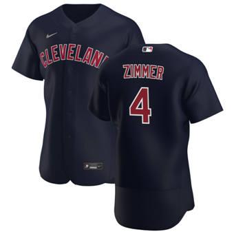 Men's Cleveland Indians #4 Bradley Zimmer Navy Alternate 2020 Authentic Player Baseball Jersey