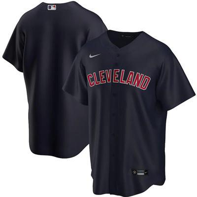 Men's Cleveland Indians Blank Black Cool Base Stitched Baseball Jersey