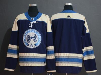 Men's Columbus Blue Jackets Blank Navy  Hockey Jersey