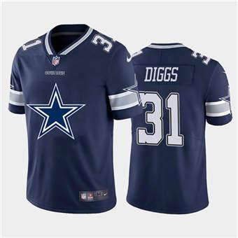 Men's Cowboys #31 Trevon Diggs Navy Football Team Big Logo Fashion Vapor Limited Jersey
