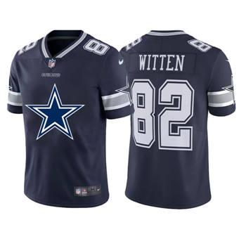 Men's Cowboys #82 Jason Witten Navy  Football Team Big Logo Fashion Vapor Limited Jersey