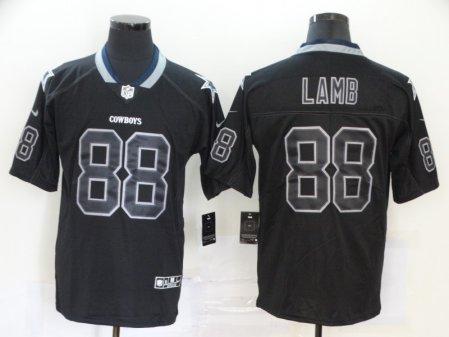 Men's Cowboys #88 CeeDee Lamb Black Lights Out Football Limited Rush Jersey