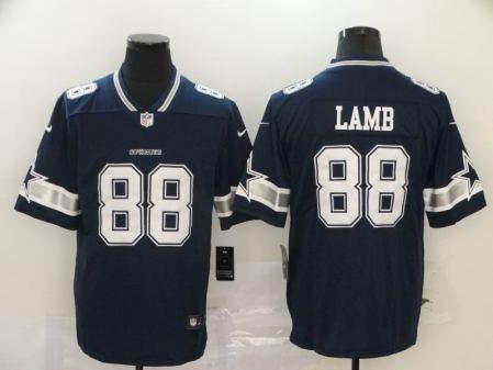 Men's Cowboys #88 CeeDee Lamb Navy Blue Team Color Stitched Football Vapor Untouchable Limited Jersey