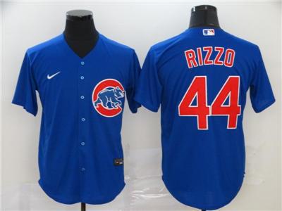 Men's Cubs #44 Anthony Rizzo Royal 2020 Baseball Cool Base Jersey