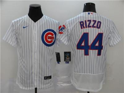 Men's Cubs #44 Anthony Rizzo White 2020 Baseball FlexBase Jersey