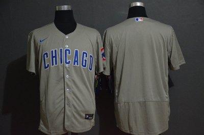 Men's Cubs Blank Gray 2020 Baseball Flexbase Jersey