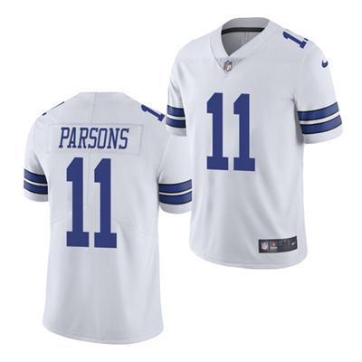 Men's Dallas Cowboys #11 Micah Parsons 2021 Football Draft White Vapor Limited Stitched Jersey