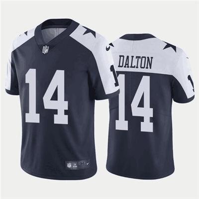 Men's Dallas Cowboys #14 Andy Dalton Navy Vapor Limited Stitched Football Jersey