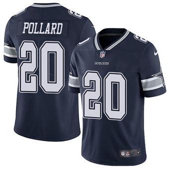 Men's Dallas Cowboys #20 Tony Pollard Navy Limited Stitched Football Jersey