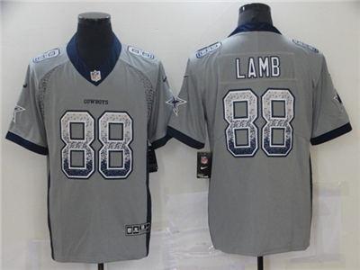 Men's Dallas Cowboys #88 CeeDee Lamb Gray Elite Drift Fashion Stitched Football Jersey