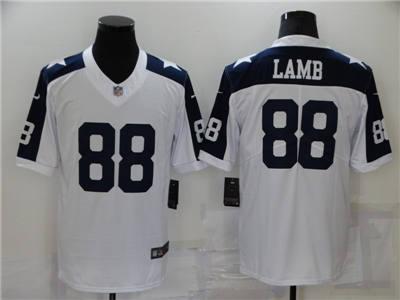 Men's Dallas Cowboys #88 CeeDee Lamb White Stitched Football Jersey