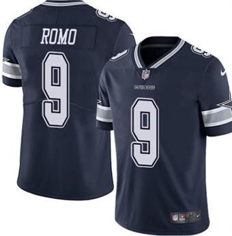 Men's Dallas Cowboys #9 Tony Romo Navy Vapor Untouchable Limited Stitched Football Jersey