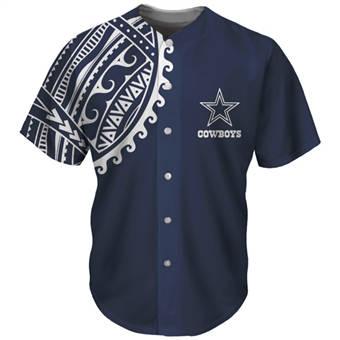 Men's Dallas Cowboys Navy Baseball Jersey