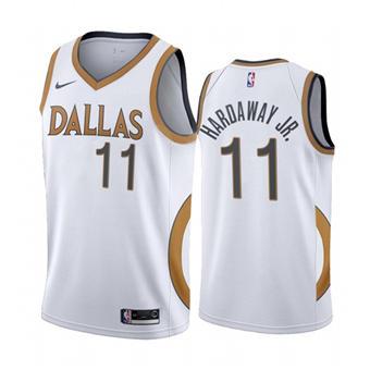 Men's Dallas Mavericks #11 Tim Hardaway Jr. White City Edition New Uniform 2020-21 Stitched Basketball Jersey