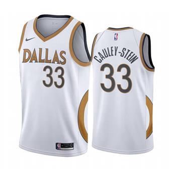 Men's Dallas Mavericks #33 Willie Cauley-Stein White City Edition New Uniform 2020-21 Stitched Basketball Jersey