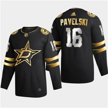 Men's Dallas Stars #16 Joe Pavelski Black Golden Edition Limited Stitched Hockey Jersey
