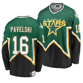 Men's Dallas Stars #16 Joe Pavelski Kelly Green Heritage Premier Breakaway Player Hockey Jersey