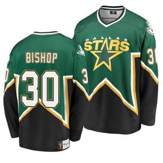 Men's Dallas Stars #30 Ben Bishop Kelly Green Heritage Premier Breakaway Player Hockey Jersey