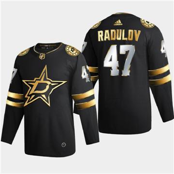 Men's Dallas Stars #47 Alexander Radulov Black Golden Edition Limited Stitched Hockey Jersey