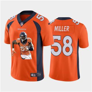 Men's Denver Broncos #58 Von Miller Player Signature Moves Vapor Limited Football Jersey Orange