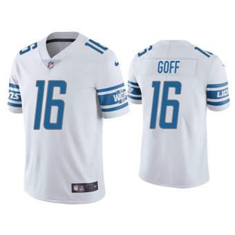 Men's Detroit Lions #16 Jared Goff White Vapor Untouchable Limited Stitched Football Jersey