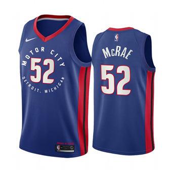 Men's Detroit Pistons #52 Jordan McRae Navy Motor City Edition 2020-21 Stitched Basketball Jersey