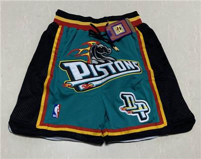 Men's Detroit Pistons Hardwood Classics Stitched Basketball Short