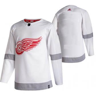 Men's Detroit Red Wings Blank White 2020-21 Reverse Retro Alternate Hockey Jersey