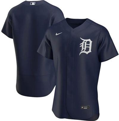 Men's Detroit Tigers Blank Navy Flex Base Stitched Baseball Jersey