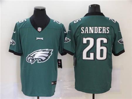 Men's Eagles #26 Miles Sanders Green Football Team Big Logo Fashion Vapor Untouchable Limited Jersey