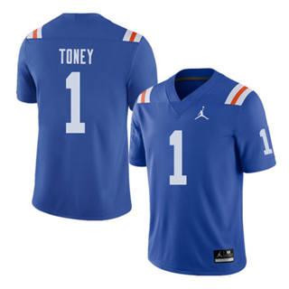 Men's Florida Gators #1 Kadarius Toney Jersey Navy Stiched NCAA 19-20