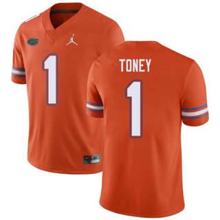 Men's Florida Gators #1 Kadarius Toney Jersey Orange NCAA 19-20