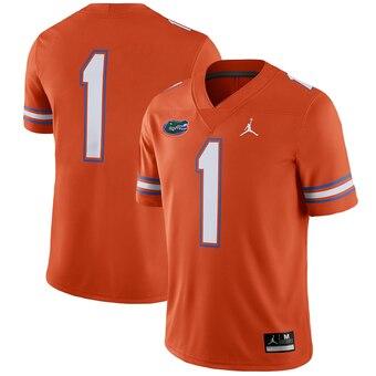 Men's Florida Gators #1 Orange Alternate NCAA Game Jersey
