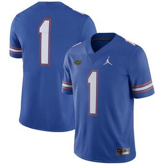Men's Florida Gators #1 Royal NCAA Football Game Jersey