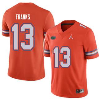 Men's Florida Gators #13 Feleipe Franks Orange Alternate NCAA Game Jersey