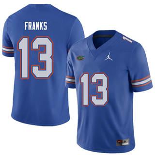 Men's Florida Gators #13 Feleipe Franks Royal NCAA Football Game Jersey