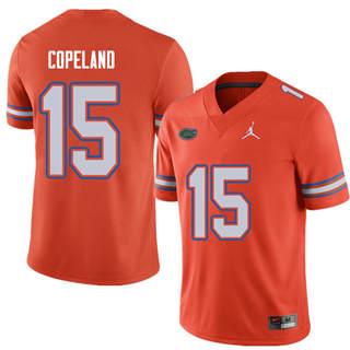 Men's Florida Gators #15 Jacob Copeland Orange Alternate NCAA Game Jersey