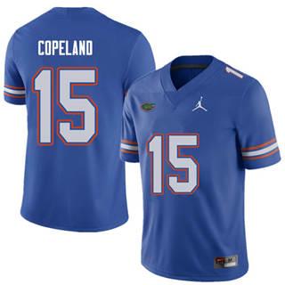 Men's Florida Gators #15 Jacob Copeland Royal NCAA Football Game Jersey