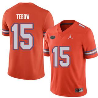 Men's Florida Gators #15 Tim Tebow Orange Alternate NCAA Game Jersey