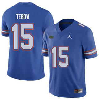 Men's Florida Gators #15 Tim Tebow Royal NCAA Football Game Jersey