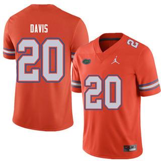 Men's Florida Gators #20 Malik Davis Orange Alternate NCAA Game Jersey